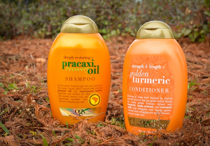 Review | OGX Pracaxi Recovery Oil Shampoo & Golden Turmeric Conditioner